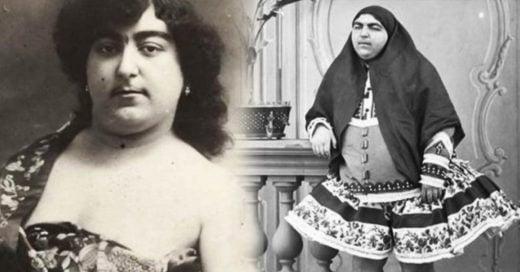La historia detrás de la imagen viral de la Princesa Qajair con bello facial