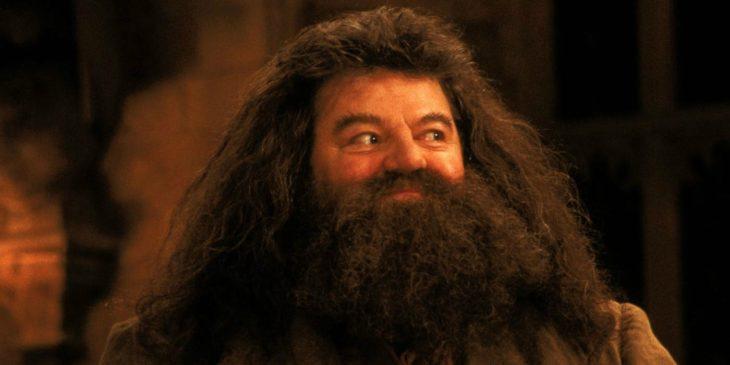 hombre con barba y cabello largo riendo
