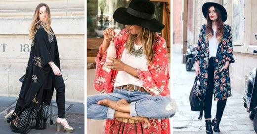 20 Outfits con kimonos que te harán amar la cultura oriental