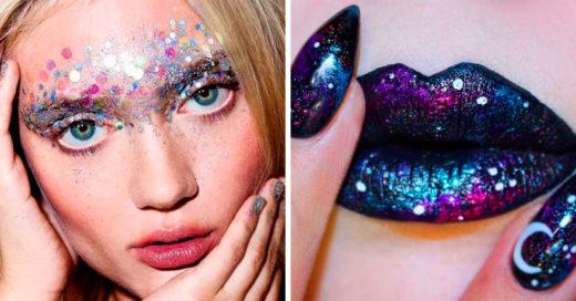 Maquillaje galáctico la tendencia que te llevará al espacio