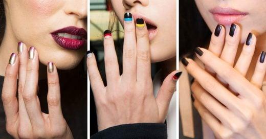 25 Ideas para decorar tus uñas directo de las pasarelas de primavera-verano 2017
