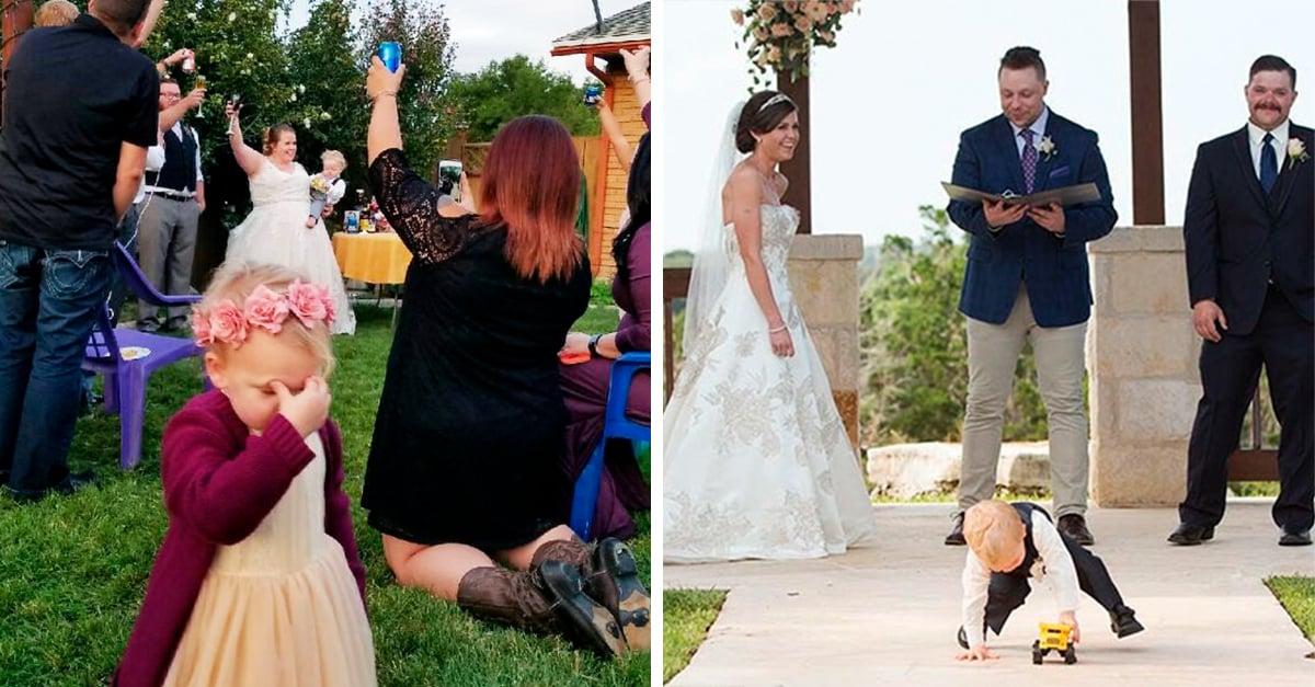 20 Niños que fueron realmente honestos y demostraron su aburrimiento en una boda