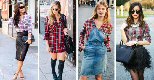 15 Camisas de cuadros y como combinarlos para verse hermosa en otoño