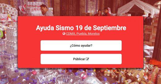 Comoayudar.mx recopila toda la información para ayudar a los afectados por el sismo en México