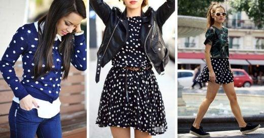 15 Looks con prendas con lunares para lucir este otoño