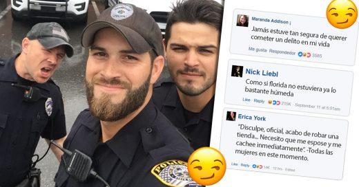 La inocente selfie de estos policías en Florida ha causado más destrozos que el huracán Irma