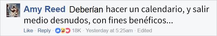 Comentario en Facebook acerca de los policías