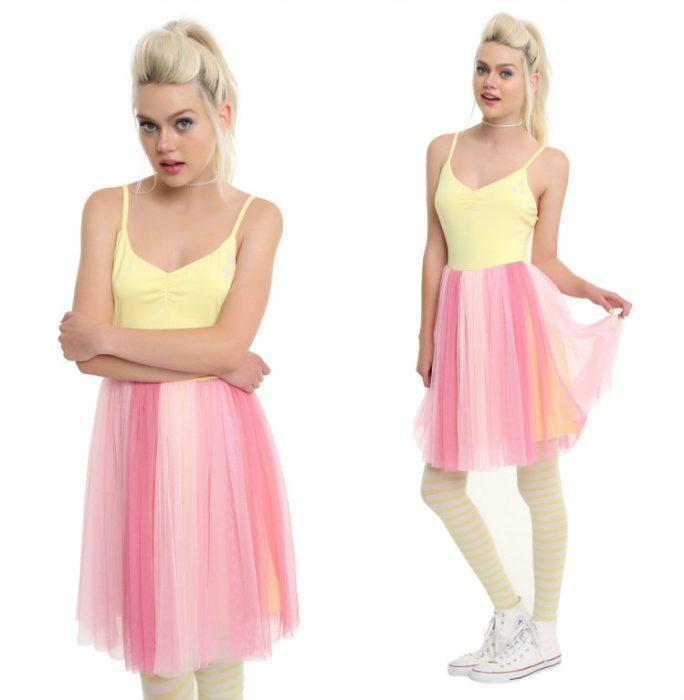 chica con vestido de bailarina