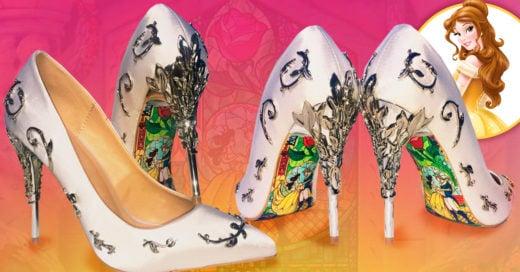 Las zapatillas para novia inspiradas en la Bella y la Bestia que te harán sentir como princesa ese día tan especial