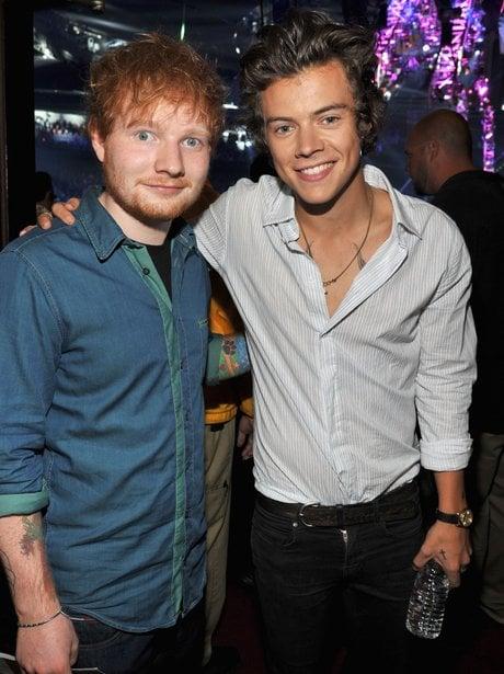 Ed Sheeran y Harry Stylees