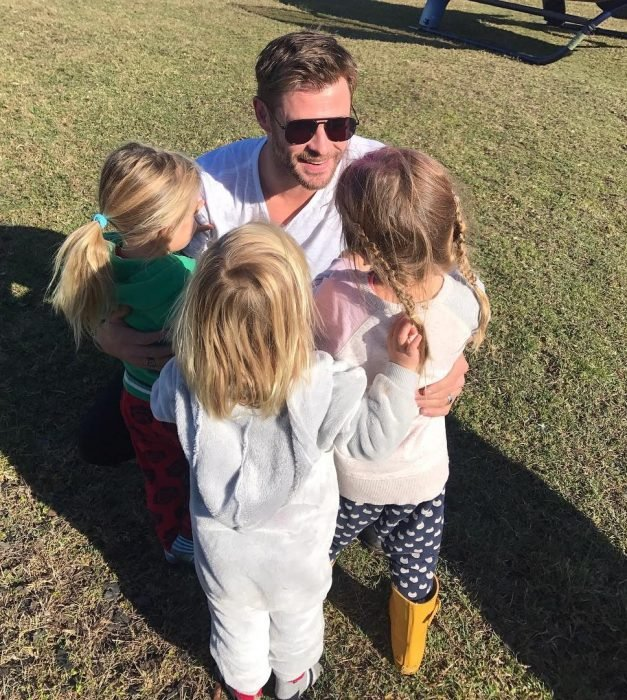 chris hemsworth y sus hijos
