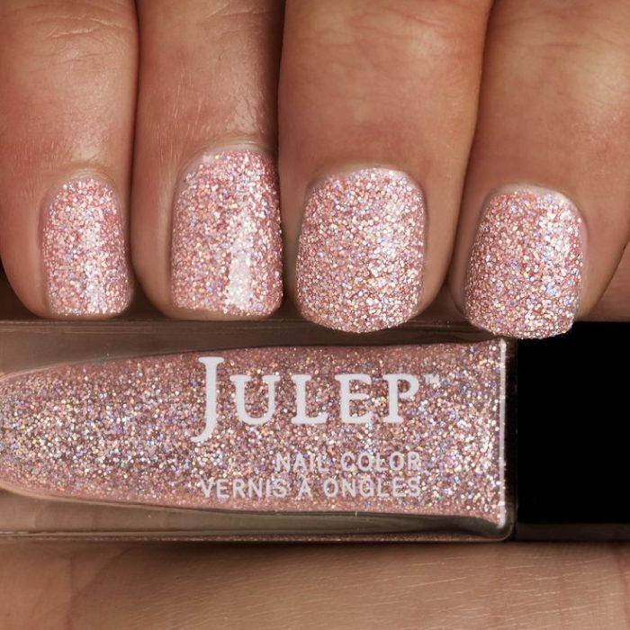 rosa con glitter