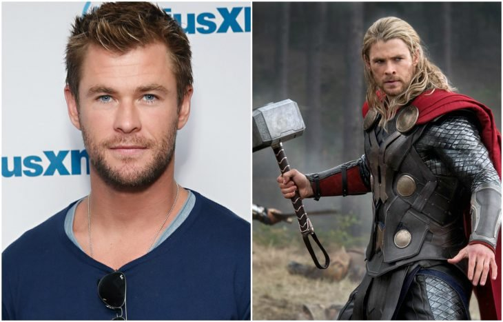 Chris Hemsworth como Thor (Las sagas de Thor y Avengers)