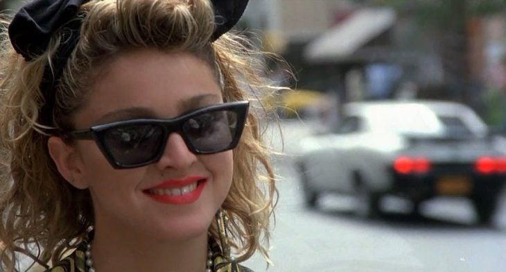 madonna lentes de sol en los 80
