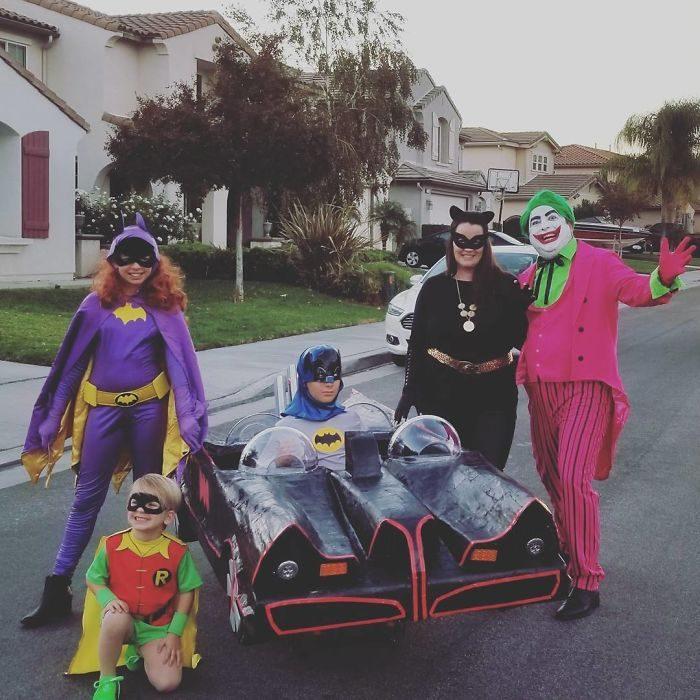 disfraz de familia batman