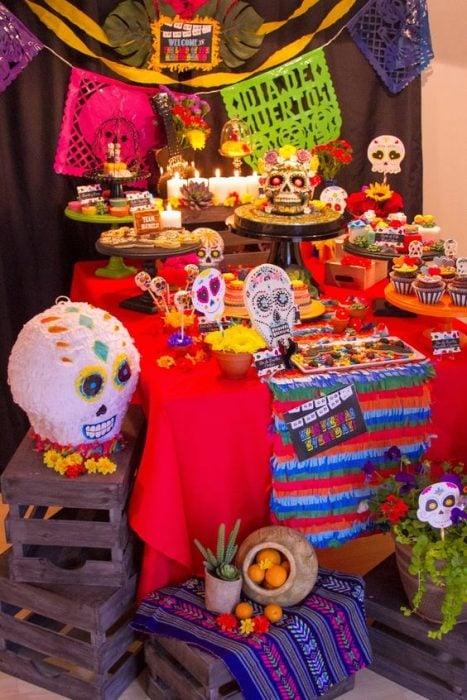 altar de muertos sencillo