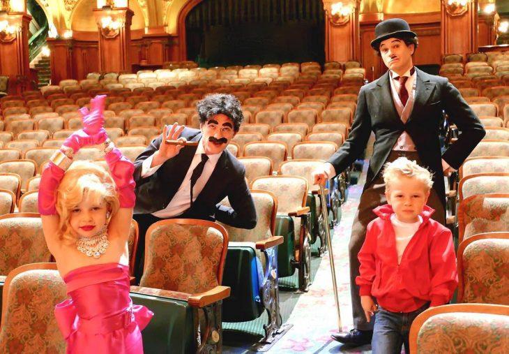 2016 Marilyn Monroe, Groucho Marx, Charlie Chaplin y James Dean. neil patrick harris
