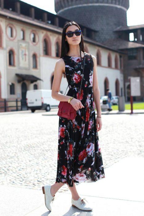 maxi vestido con oxford
