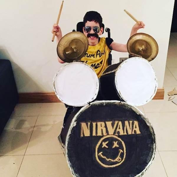 disfraz de baterista de nirvanna