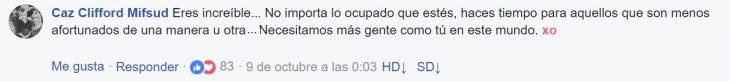 Comentarios en Facebook sobre video que gravó The rock para una mujer con cáncer