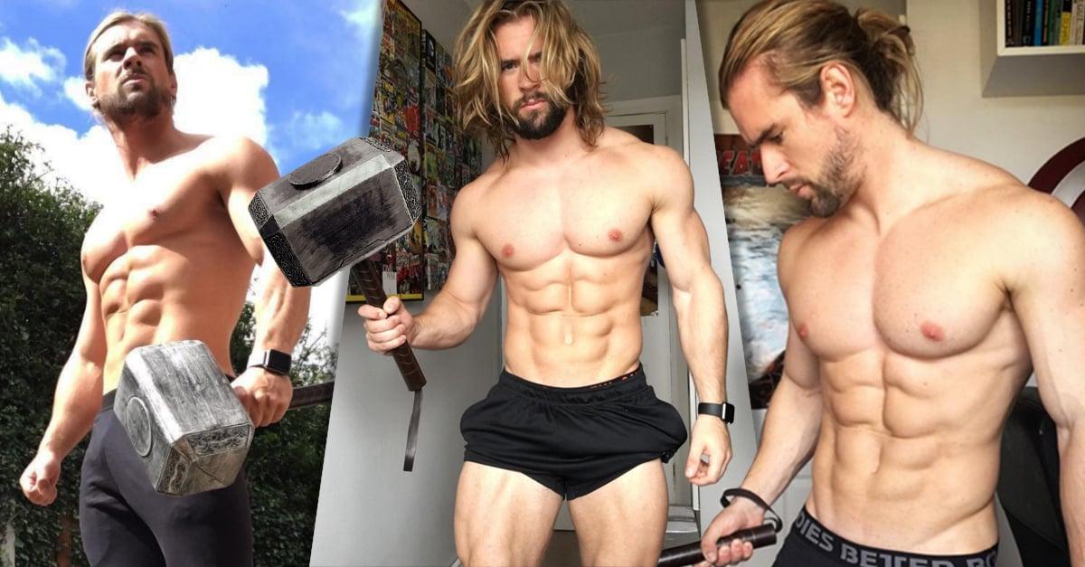 Ben Mudge, el entrenador personal idéntico a Thor