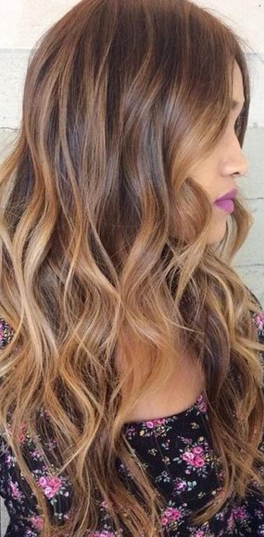 Imagenes de cabello pintado de color chocolate