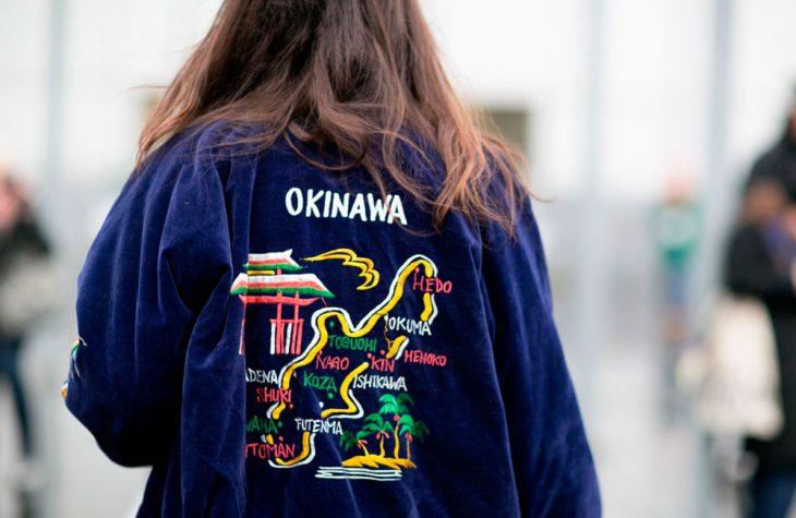 chica con chaqueta china