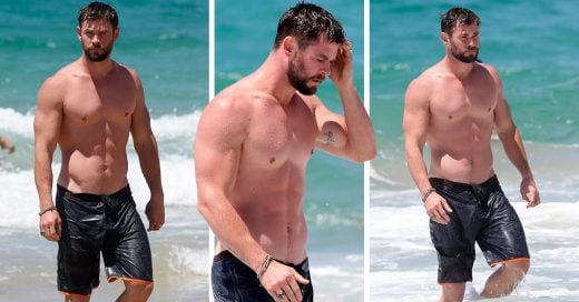 Chris Hemsworth en la playa es como estar en el cielo