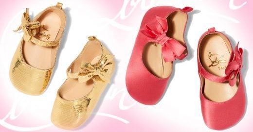 Christian Louboutin lanzó unos zapatos para las bebés
