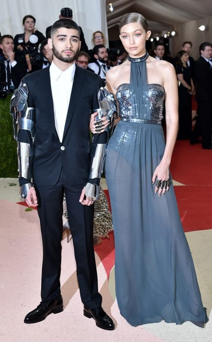 Gigi Hadid y Zayn Malik en la gala del met