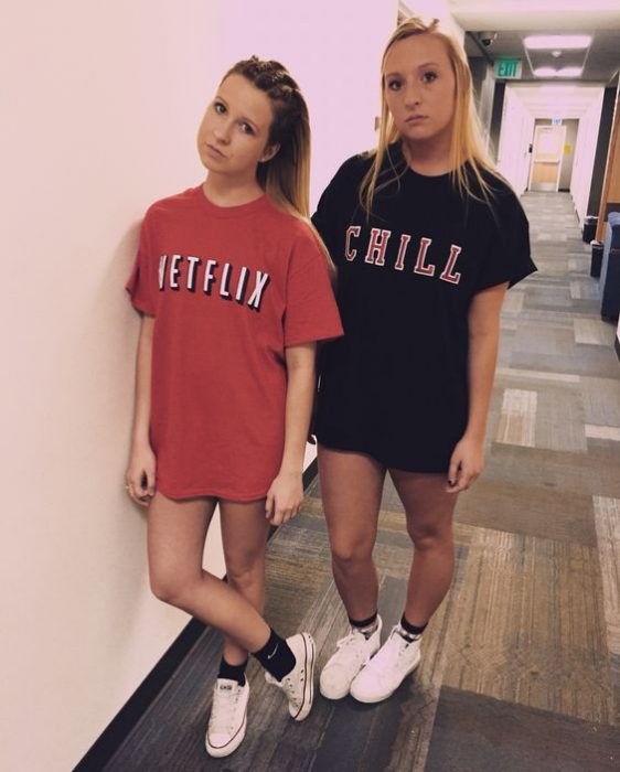 chicas disfrazadas de Netflix