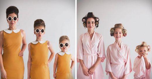 Esta mamá influencer comparte adorables fotos con sus hijas llevando la misma ropa