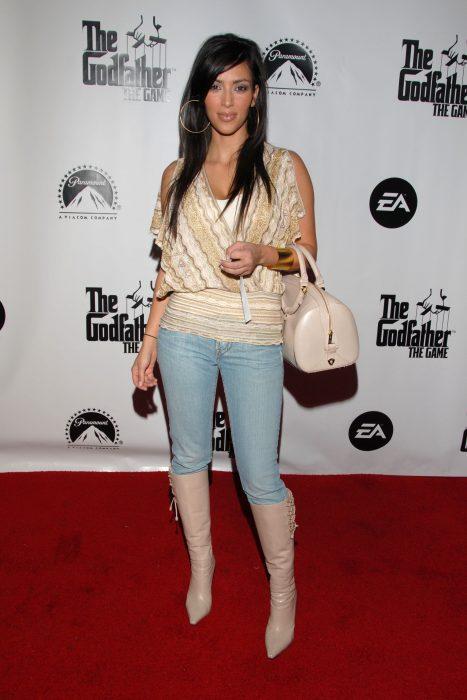 Kim kardashian en el 2006 durante una alfombra roja