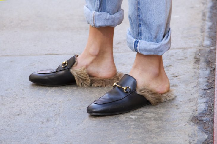 Zapatos de piel hechos por Gucci