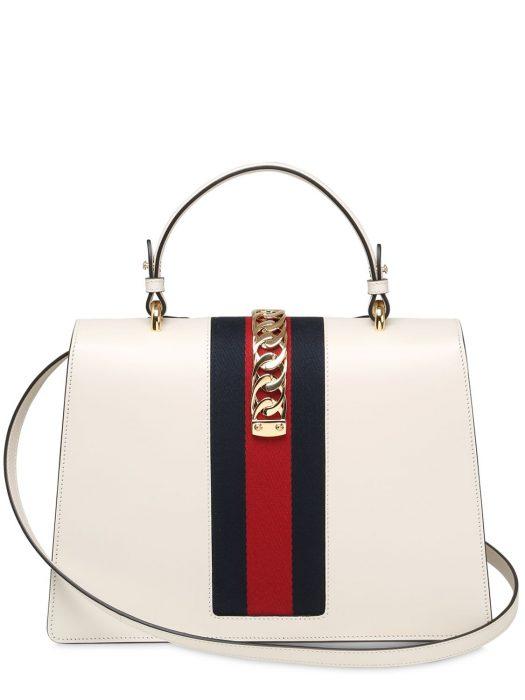 Bolsa de piel hecha por Gucci