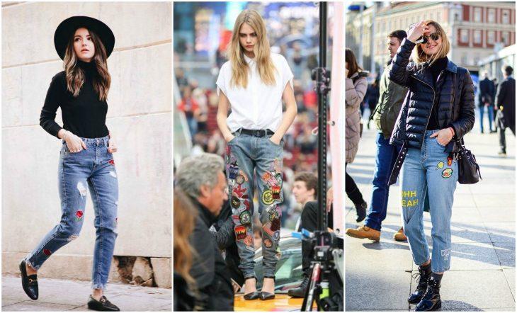 Jeans con parches