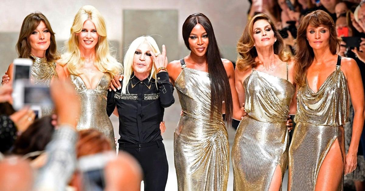 Las super modelos que inspiraron a Gianni Versace le hacen un homenaje en Milán