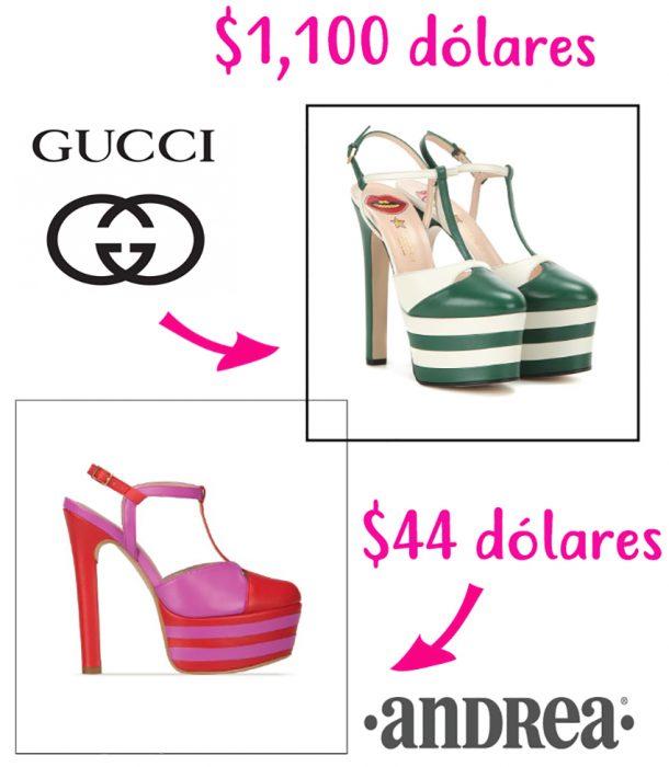 zapatos de diseñador vs zapatos accesibles gucci andrea