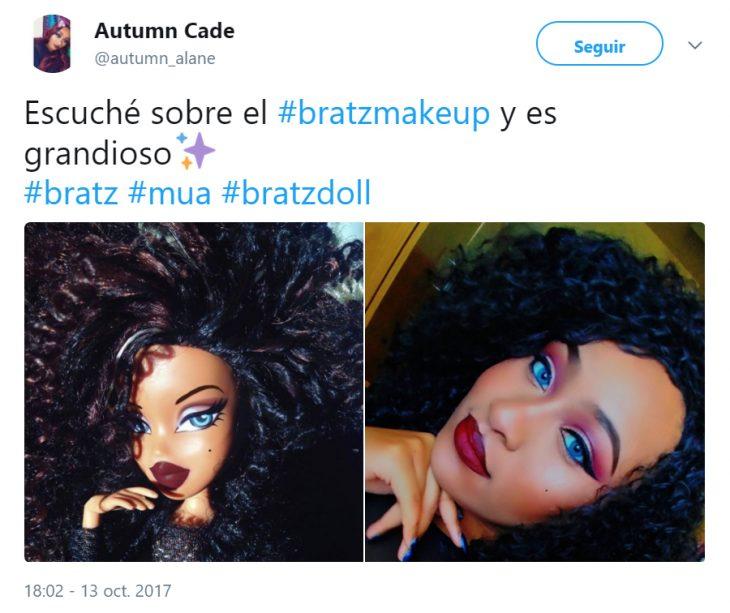 Mujeres de Twitter maquillándose como las muñecas Bratz