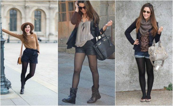estilos con medias y short