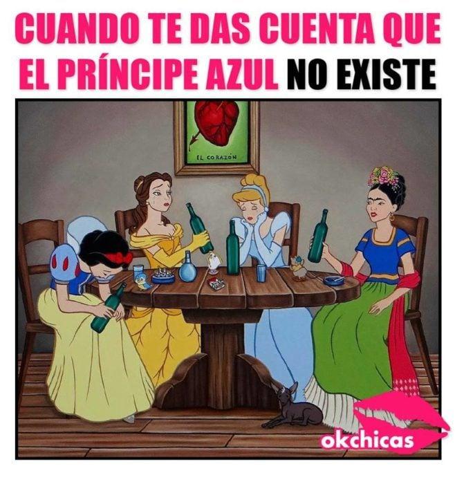 princesas disney con frida khalo