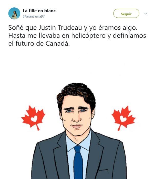 Memes de twitter que describen la visita de Trudeau a México