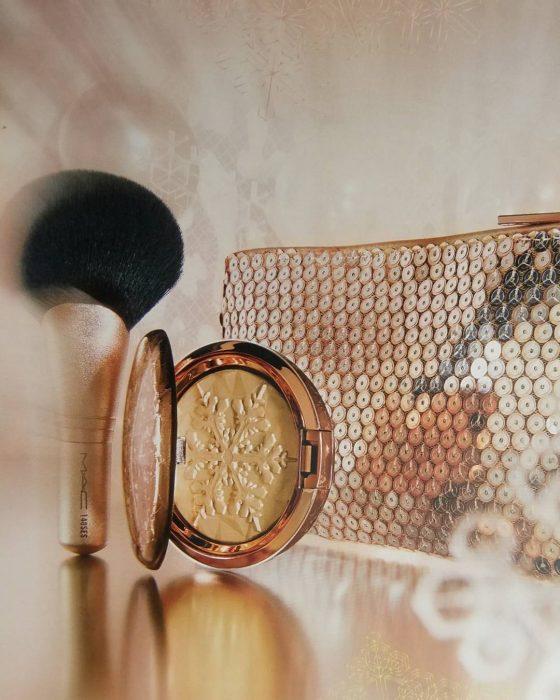 Cosmetiquera y brochas de mac