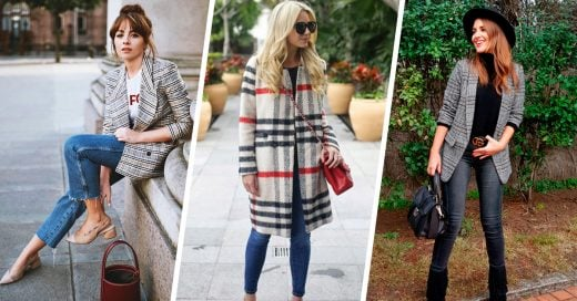 15 Looks con chaquetas de cuadros