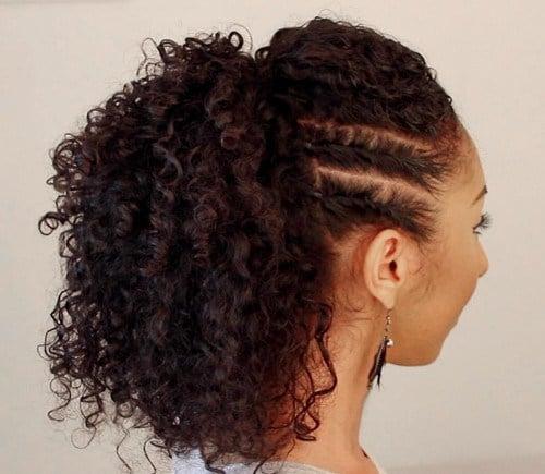 peinado d mujer con trenzas laterales
