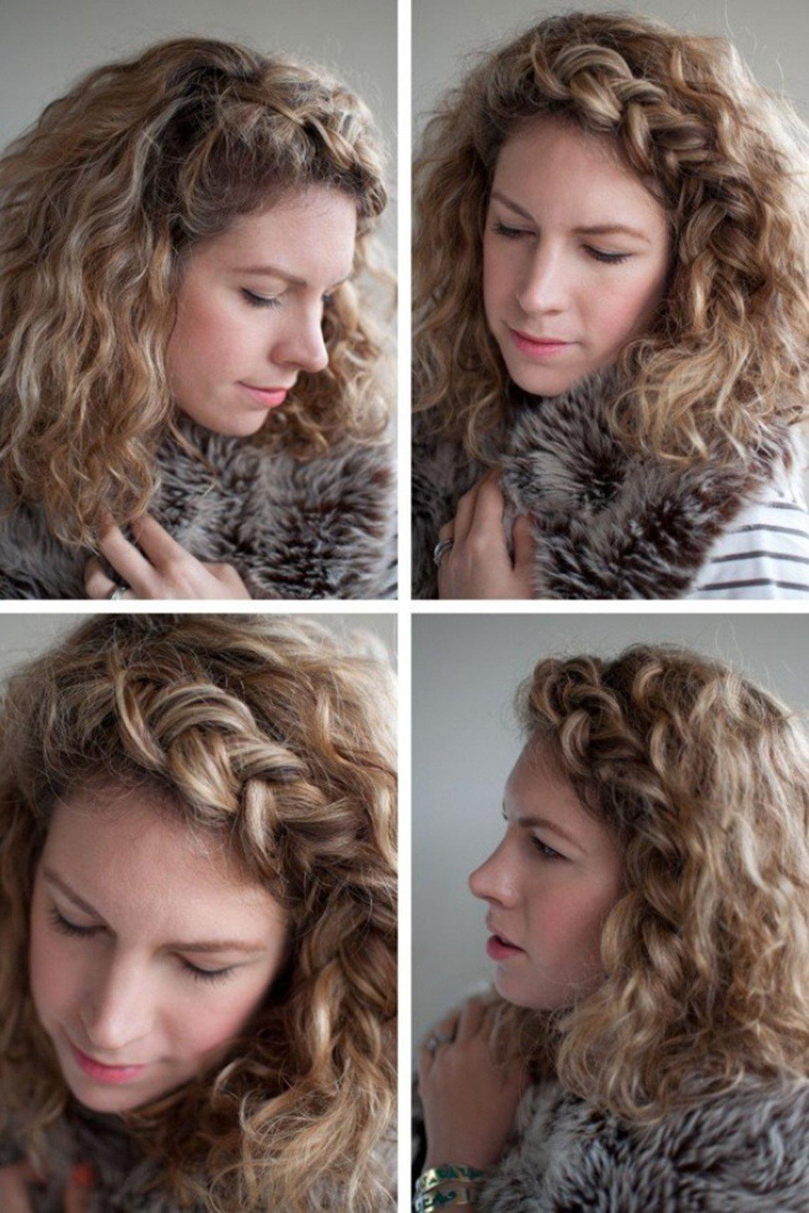 Hermoso peinados faciles pelo rizado Colección de cortes de pelo estilo - 15 Sencillos peinados para mantener tus rizos controlados