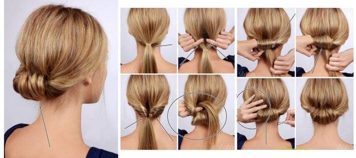 chica mostrando su peinado