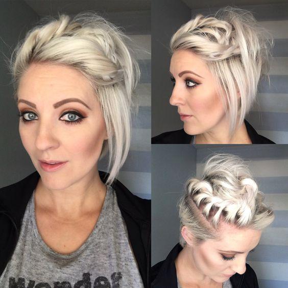 Peinados para cabello corto a los hombros