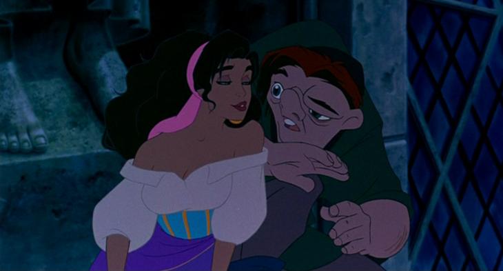 Escena de la película el Jorobado de Notredame