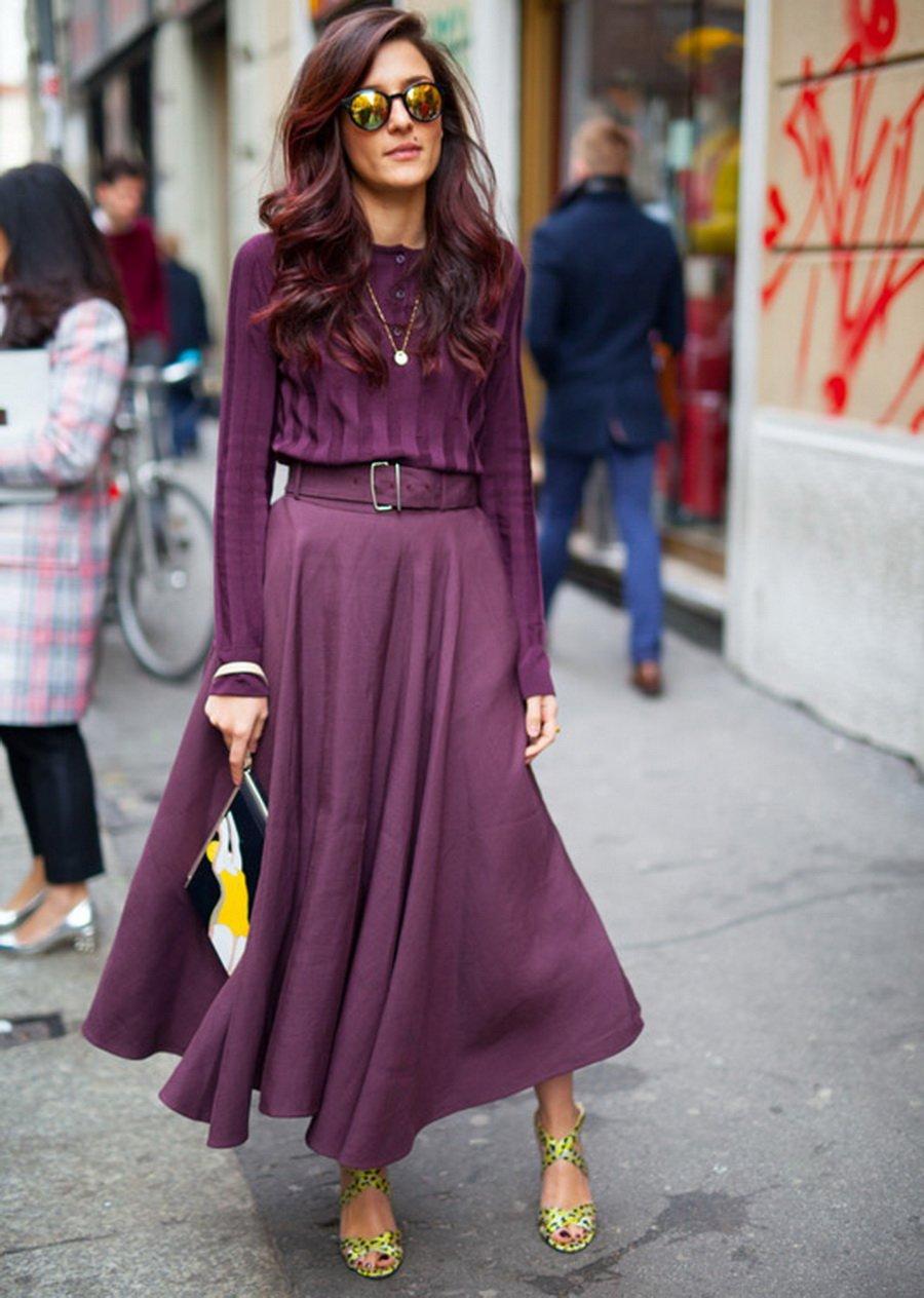 Único Ciruela Vestidos De Dama De Color Púrpura Viñeta - Vestido de ...
